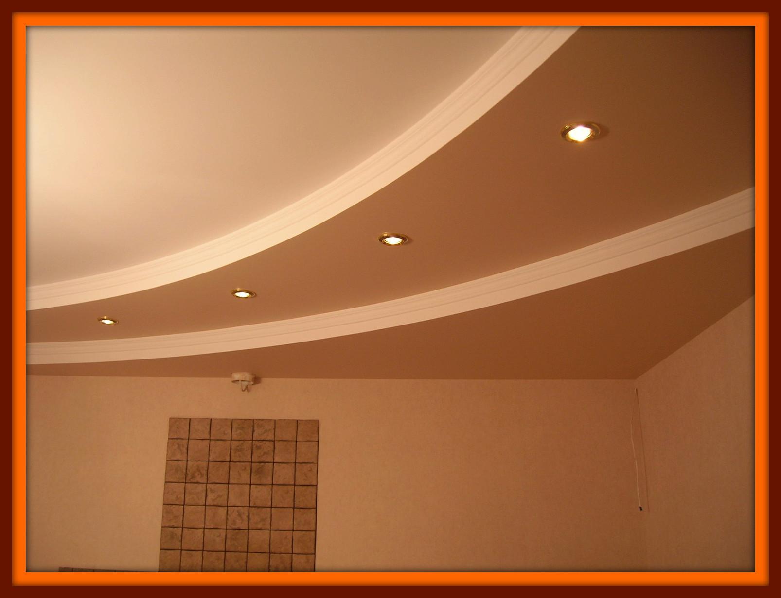 Потолок из гипсокартона в зале своими руками